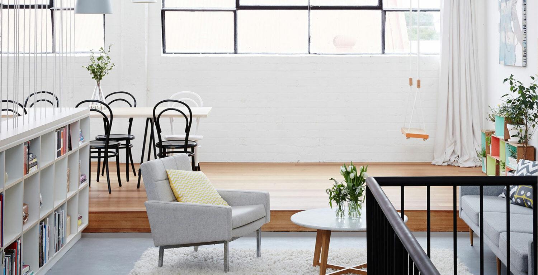 Maike Design Industrial warehouse transformation into creative workspace.