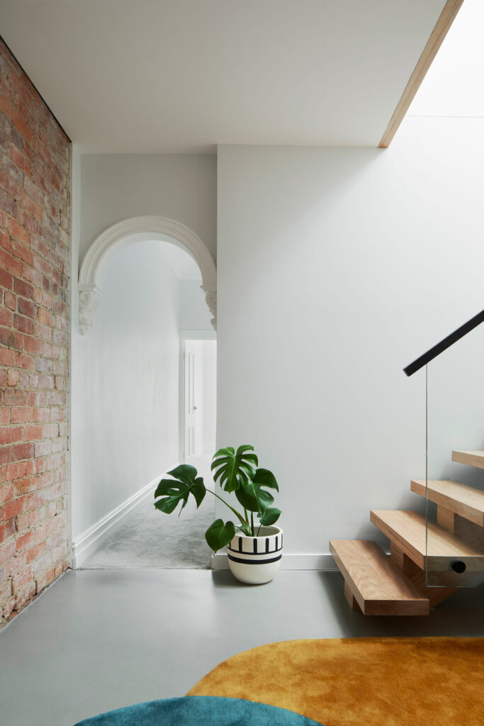 Maike Design stair foyer and existing heritage hallway