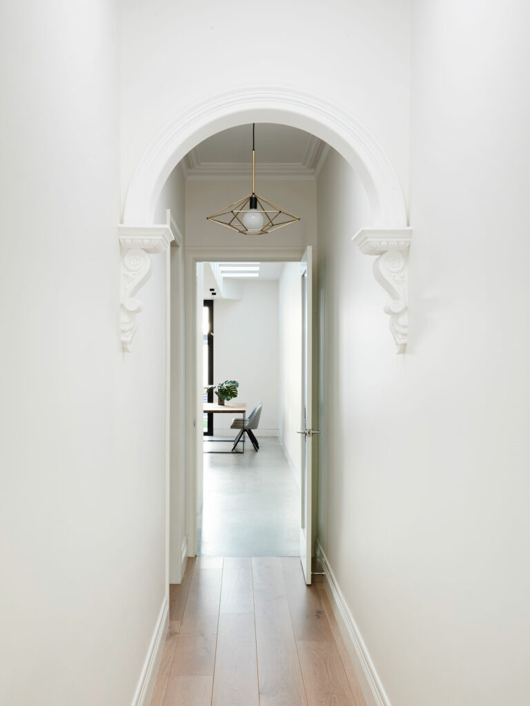 Maike Design terrace house hallway to new extension