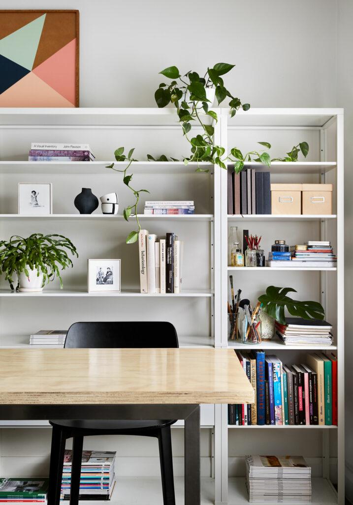 Maike Design study shelves and workbench