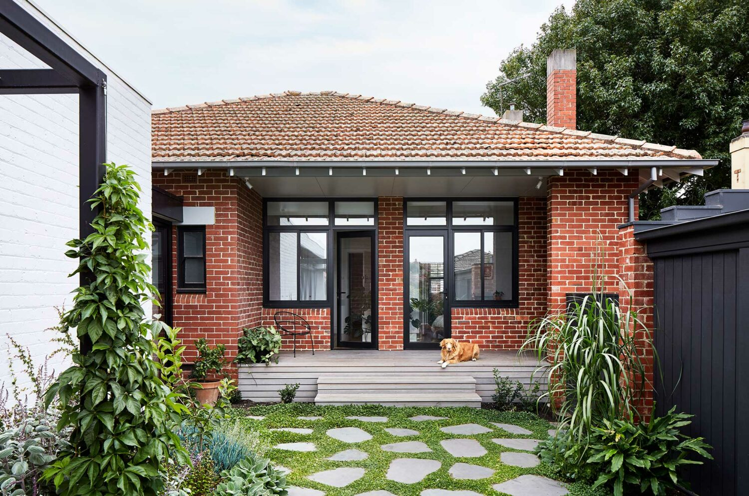 Maike Design renovated Californian Bungalow and extension with beautiful garden